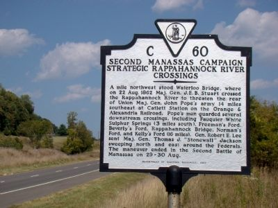 Second Manassas Campaign Marker Photo, Click for full size