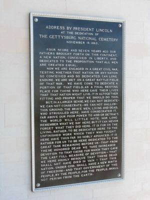 The <i>Gettysburg Address</i> Displayed at all National Cemeteries image. Click for full size.