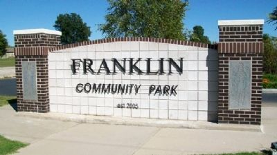 Franklin Community Park Sign [west face] image. Click for full size.