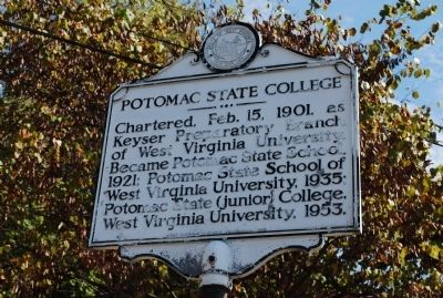 Potomac State College Marker image. Click for full size.