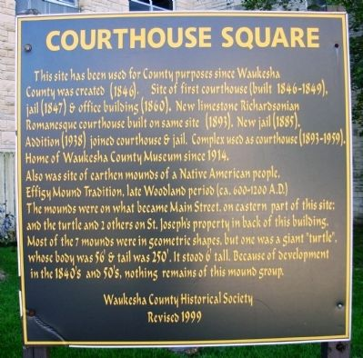 Courthouse Square Marker image. Click for full size.