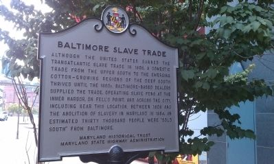 Baltimore Slave Trade Marker Photo, Click for full size