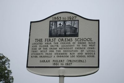 The First Orems Schools Marker image. Click for full size.