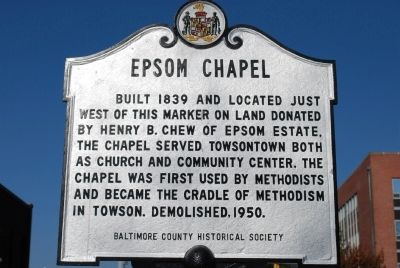 Epsom Chapel Marker Photo, Click for full size