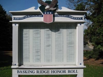 Basking Ridge Honor Roll - Right Side of Monument image. Click for full size.