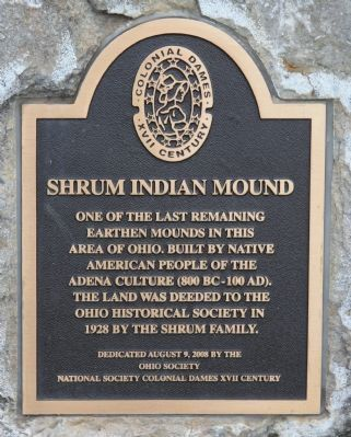 Shrum Indian Mound Marker image. Click for full size.
