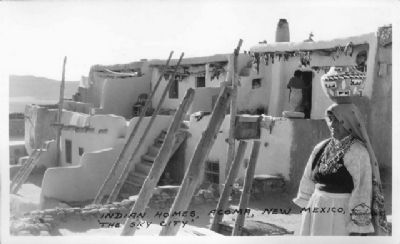 Indian Homes - Acoma, New Mexico image. Click for full size.