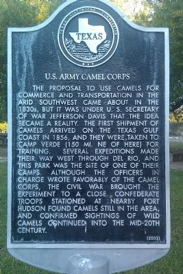 U.S. Army Camel Corps Marker image. Click for full size.