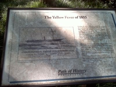 The Yellow Fever of 1855 Marker image. Click for full size.