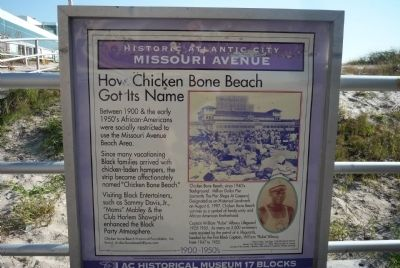 """How Chicken Bone Beach Got Its Name"" Marker Photo, Click for full size"