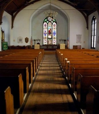 Trinity Episcopal Church Interior -<br>From Auditorium Looking into Chancel image. Click for full size.