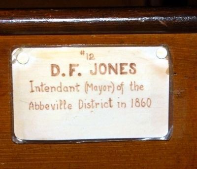 Trinity Episcopal Church Member Plaque #12 -<br>D.F. Jones image. Click for full size.