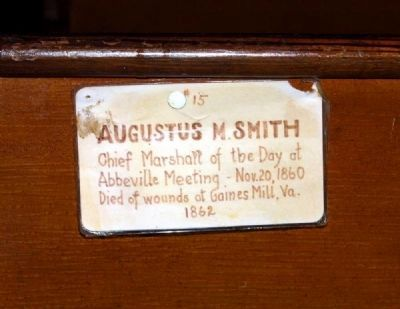 Trinity Episcopal Church Member Plaque #15 -<br>Augustus M. Smith image. Click for full size.