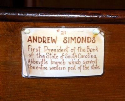 Trinity Episcopal Church Member Plaque #21 -<br>Andrew Simonds image. Click for full size.