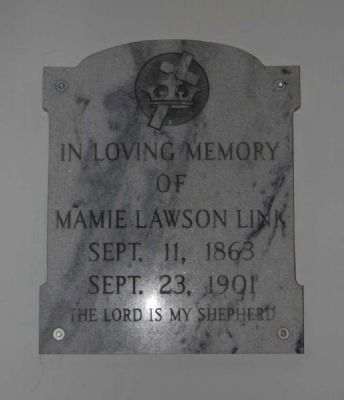 Mamie Lawson Link Plaque image. Click for full size.