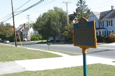 Milford Marker, looking east along State Road 14 (N Front Street) image. Click for full size.
