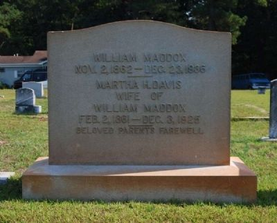 William and Martha Maddox Tombstone image. Click for full size.