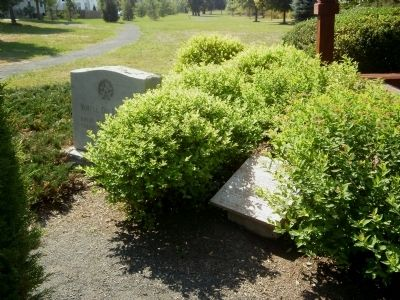 "Burial site of ""Elsie"" Marker on the right. You'll Do Lobelia Marker is on the left. image. Click for full size."