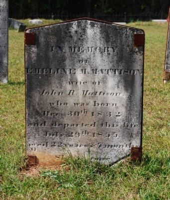 Emeline M. Mattison Tombstone image. Click for full size.