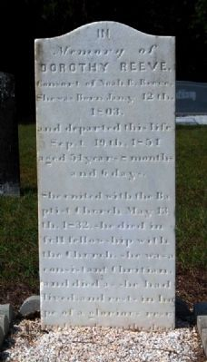 Dorothy Reeve Tombstone image. Click for full size.