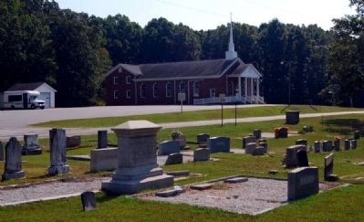 Broadmouth Baptist Church, Cemetery, and Marker image. Click for full size.