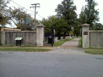 Cedar Grove Cemetary Entrance Gate image. Click for full size.