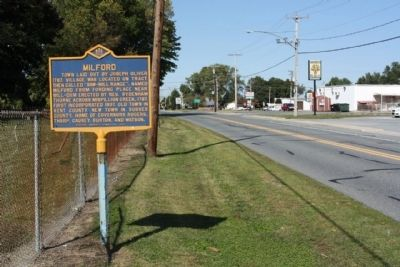 Milford Marker, looking north along N Walnut Street image. Click for full size.