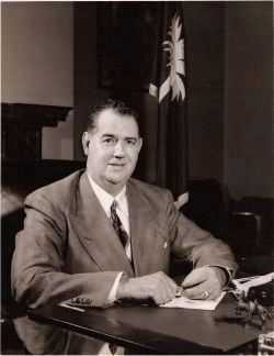 Olin D. Johnston<br>(1896&#8211;1965) -<br>As Governor of South Carolina Photo, Click for full size