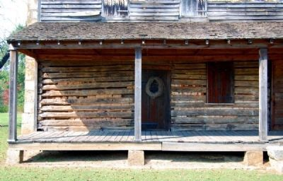 Obediah Shirley House -<br>Original Cabin Photo, Click for full size