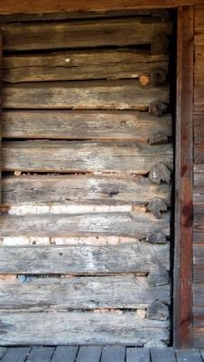 Obediah Shirley House -<br>Original Log Cabin Joints image. Click for full size.