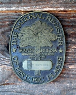 Obediah Shirley House -<br>National Register of Historic Places Medallion Photo, Click for full size