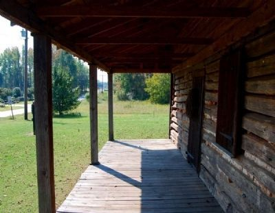 Obediah Shirley House -<br>Front Porch Looking South Photo, Click for full size