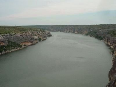 View northward from the Pecos River High Bridge image. Click for full size.