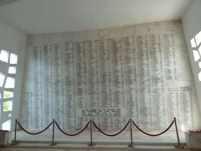 U.S.S. Arizona Memorial wall Photo, Click for full size