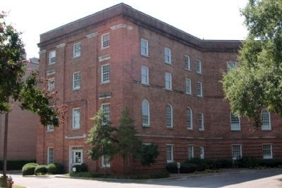 South Carolina State Hospital Mills Building, east side entrance image. Click for full size.