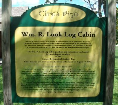 Wm. R. Look Log Cabin Marker image. Click for full size.