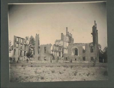 Ingleside Seminary Burned Building image. Click for full size.