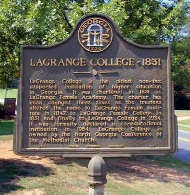 LaGrange College – 1831 Marker image. Click for full size.