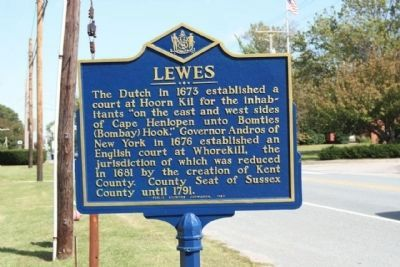 Lewes Marker, with new paint job in 2010 image. Click for full size.