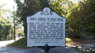 Daniel Carroll of Rock Creek Marker image. Click for full size.