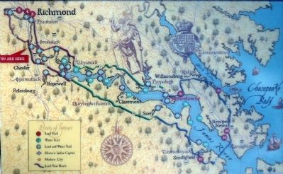 Map of Captian John Smith's Trail image. Click for full size.