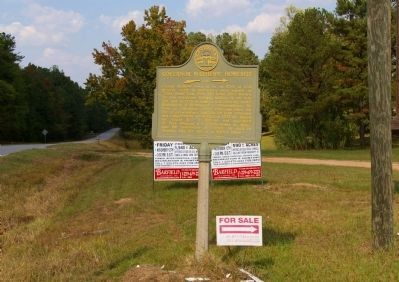 Governor Mathews' Homesite Marker image. Click for full size.