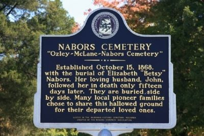 Nabors Cemetery Marker image. Click for full size.