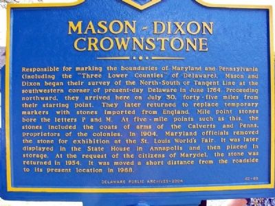 Mason-Dixon Crownstone Marker Photo, Click for full size