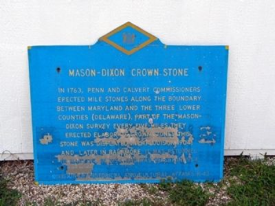 Mason-Dixon Crownstone Marker - Old Photo, Click for full size