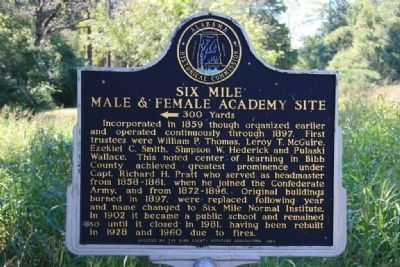 Six Mile Male & Female Academy Site Marker Photo, Click for full size