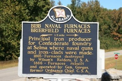 Bibb Naval Furnaces Brierfield Furnaces Marker image. Click for full size.