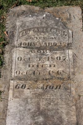 Grave of Elizabeth H. Nabors image. Click for full size.