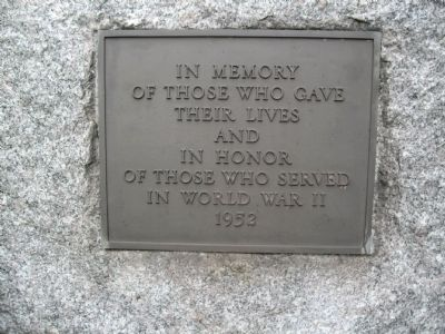 Yorktown World War II Monument image. Click for full size.