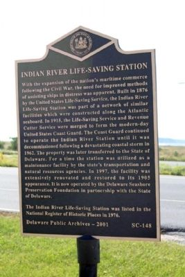 Indian River Life-Saving Station Marker image. Click for full size.